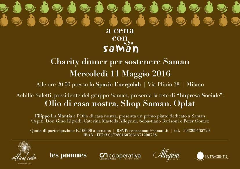 Olio di Casa Nostra alla Charity Dinner con Filippo La Mantia