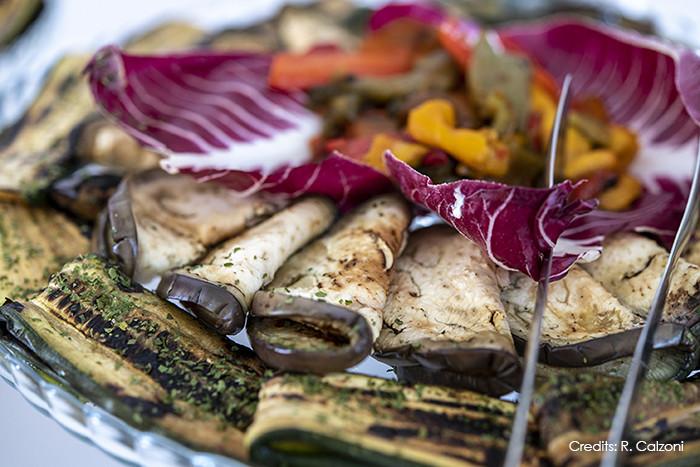 L'alzata di verdure grigliate